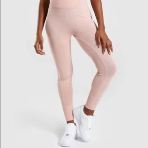 Gymshark Time Out Knit Joggers Leggings Blush Pink